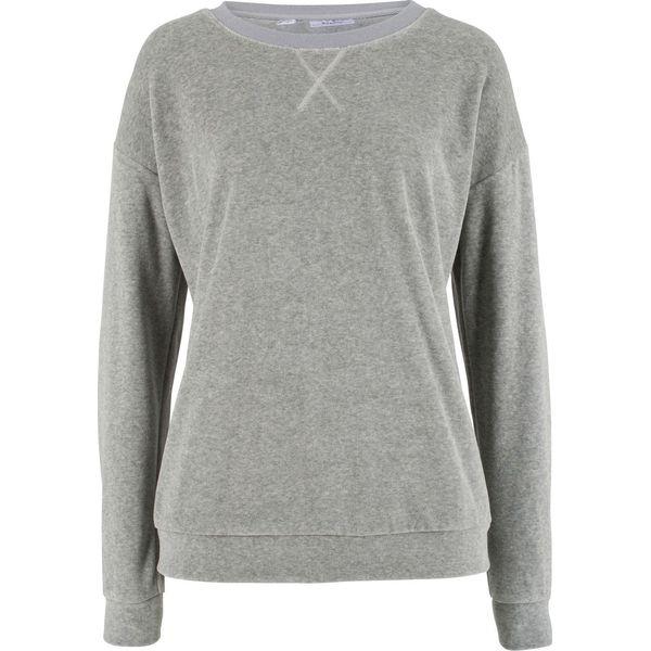 0d048839a8 Bluza z dzianiny welurowej nicki bonprix jasnoszary melanż - Bluzy ...