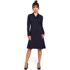 90d46890ac Granatowa sukienka z długim rękawem - Sukienki damskie - Kolekcja ...