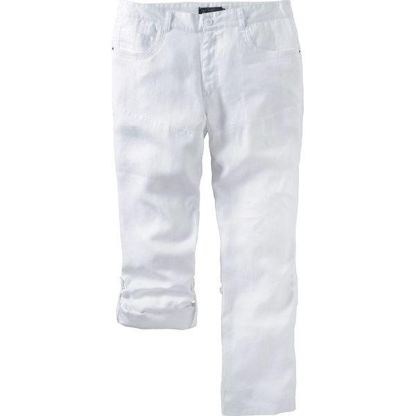47c1b7d451c5c Spodnie lniane bonprix biały - Spodnie materiałowe męskie marki ...