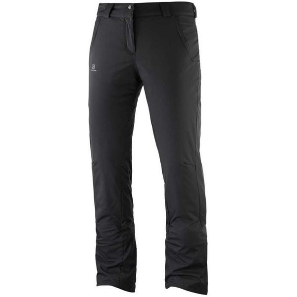 9c4fd99b5f2f52 Salomon Damskie Spodnie Narciarskie Stormseason Pant W Black L/R ...