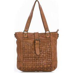 20fc28103e7e3 Skórzana torebka w kolorze brązowym - 28 x 30 x 10 cm. Torebki klasyczne  damskie