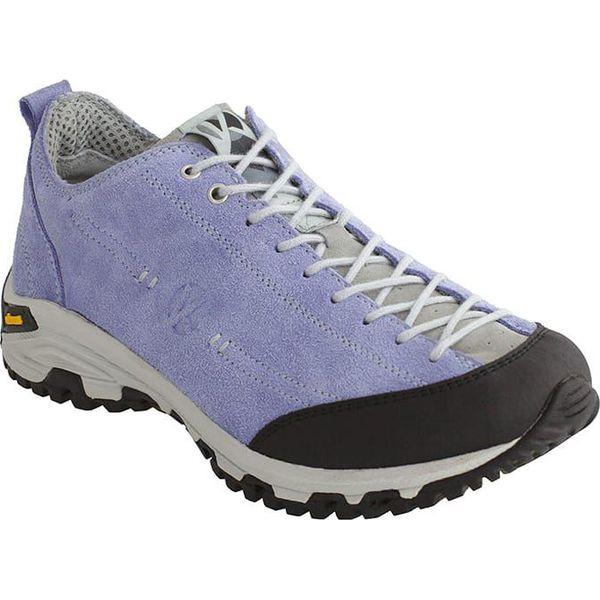 2ffbfc42 Skórzane buty trekkingowe w kolorze fioletowym - Obuwie trekkingowe ...