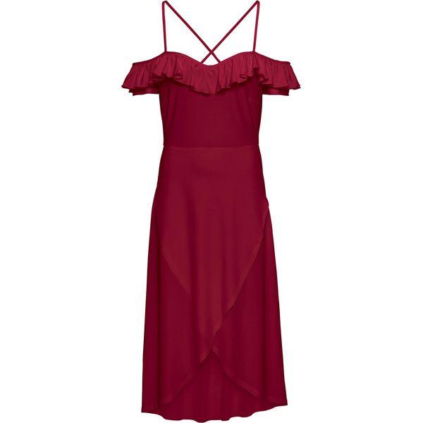 0e4e9ef898 Sukienka z dekoltem bonprix ciemnoczerwony - Sukienki damskie marki ...