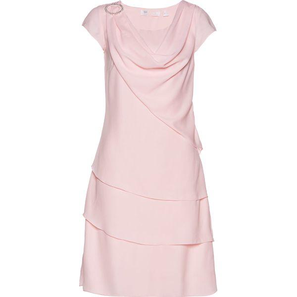 e264e358c4 Sukienka szyfonowa w optyce warstwowej bonprix pastelowy jasnoróżowy ...