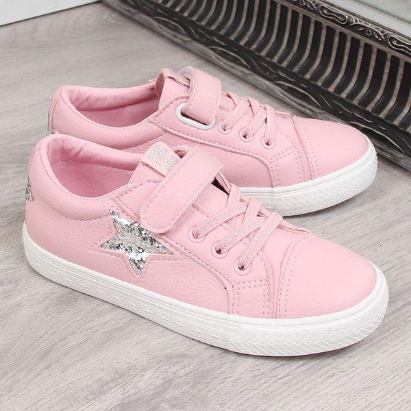 4628968a16acd Trampki dziewczęce na rzep różowe Big Star 28 - Trampki i tenisówki ...