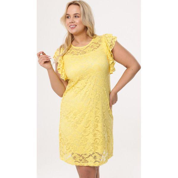 9d796bf5d7 Żółta Sukienka Thunderer - Żółte sukienki damskie marki Born2be