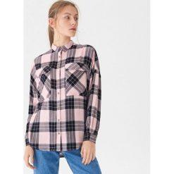 d9f0799ba90e9c Brązowe koszule damskie ze sklepu House, bez kołnierzyka - Kolekcja lato  2019
