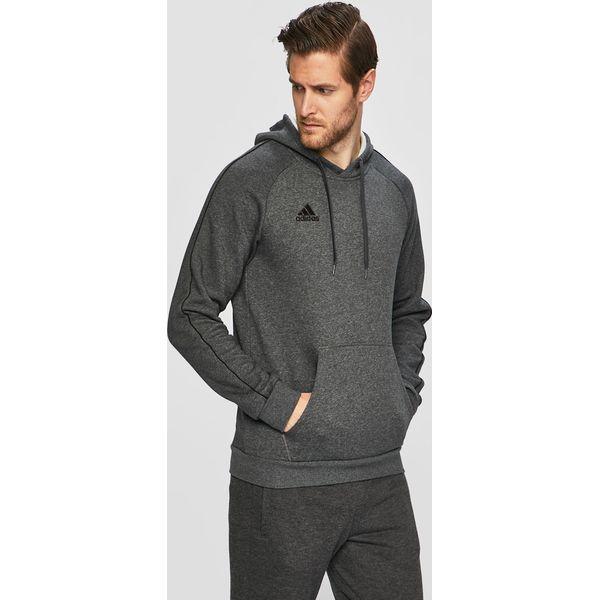 9312fcd95 adidas Performance - Bluza - Szare bluzy z kapturem męskie marki ...