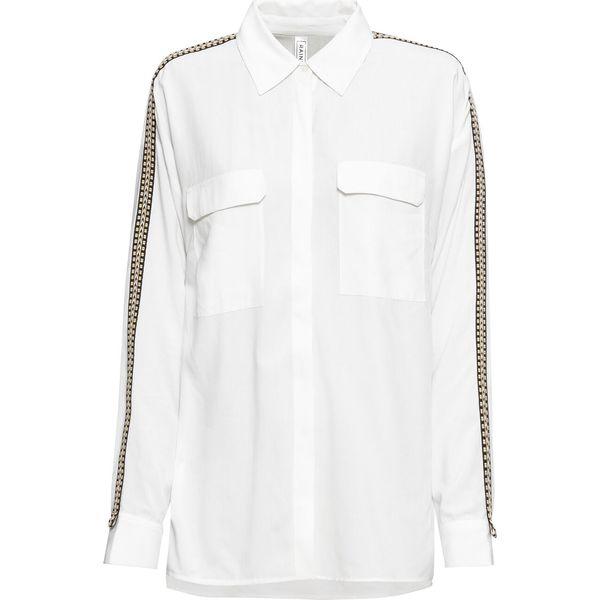 7e9d1bd190e175 Długa bluzka z paskiem na rękawie bonprix biały - Białe bluzki ...