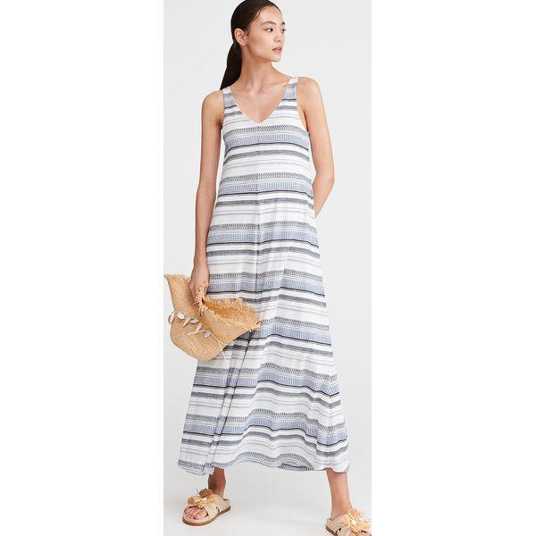 ad943123 Długa dzianinowa sukienka - Wielobarwny
