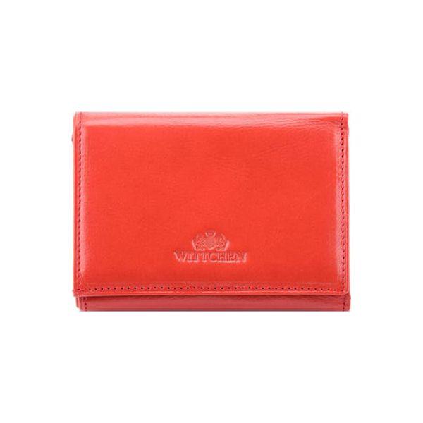 ca8ccdb1448b2 Skórzany portfel w kolorze czerwonym - (S)12 x (W)9 cm - Czerwone ...