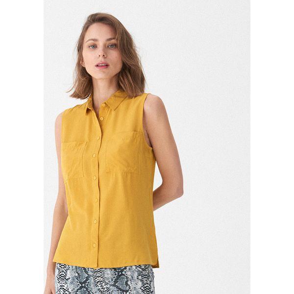 ff915ee9c57b6e Koszula basic - Żółty - Koszule damskie House. W wyprzedaży za 29.99 ...