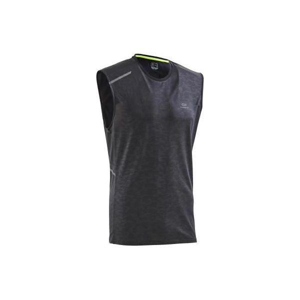 6b473a1d840285 Koszulka do biegania bez rękawów RUN DRY+ męska - Czarne t-shirty sportowe  męskie KALENJI, m, z elastanu, bez ramiączek, do biegania. Za 29.99 zł.