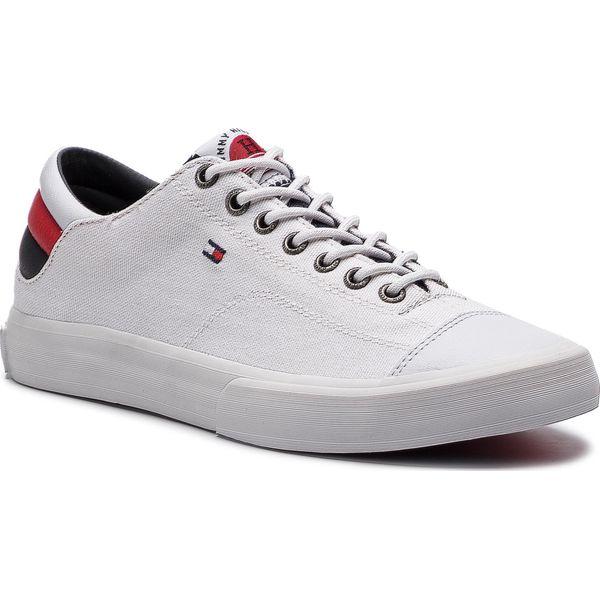 2f7440cce4d76 Tenisówki TOMMY HILFIGER - Long Lace Sneaker FM0FM01947 White 100 ...