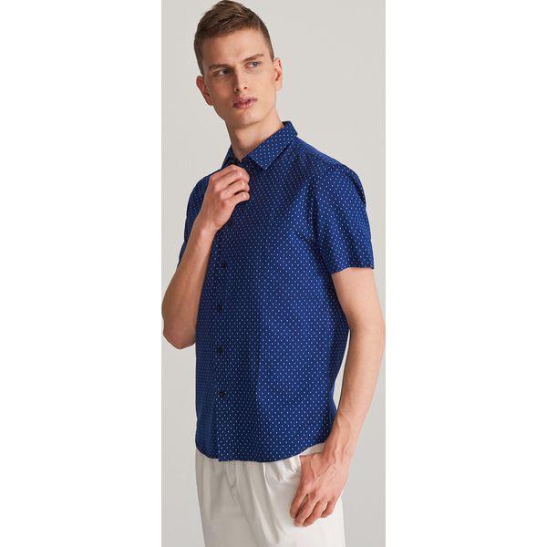 c2fe5d337 Bawełniana koszula slim fit - Granatowy - Koszule męskie Reserved ...