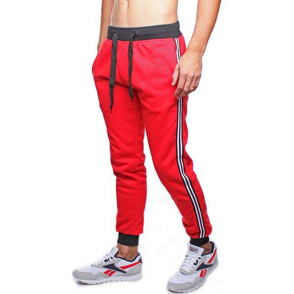 Spodnie męskie dresowe czerwone Recea