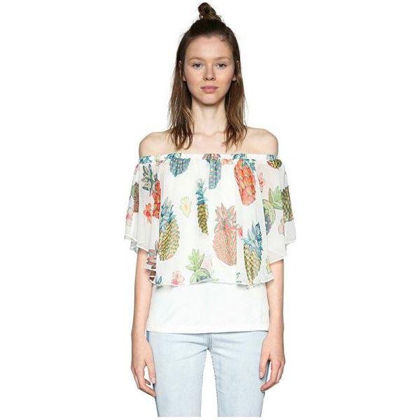 16cabfdc Desigual Damska bluzka Blus Estella 18SWBWBK 1000 (rozmiar M)