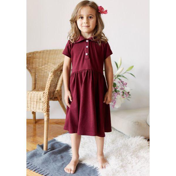 9cede2c221 Sukienka Polo mini bordowa 92 bordo - Sukienki damskie marki Marie ...