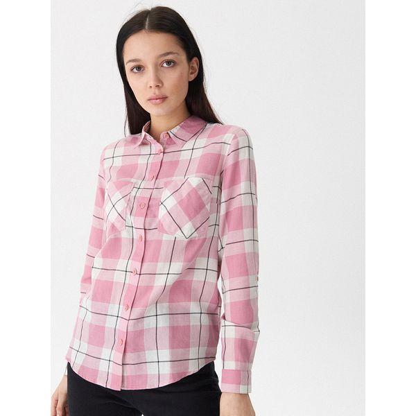 9413fd4e051645 Koszula w kratę - Różowy - Koszule damskie House. W wyprzedaży za ...