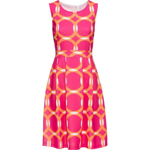 e8801c0ddc Sukienka drukowana bonprix różowy wzorzysty - Sukienki damskie marki ...