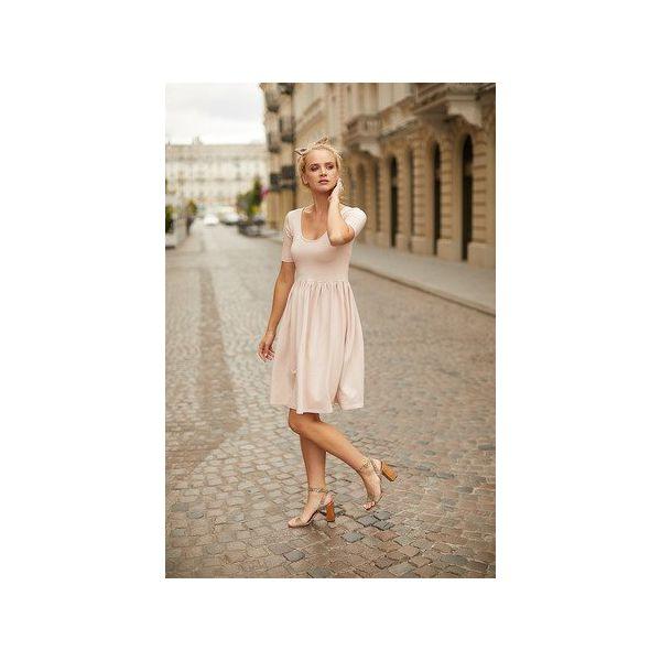 Sukienka Ballerinabe Różowy   Warsawbe   Sukienki Damskie