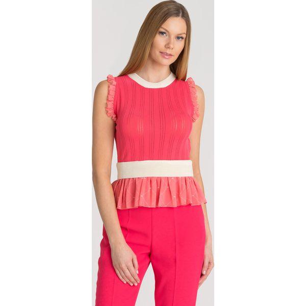39dbd8363f27ae BLUZKA - Czerwone bluzki damskie Elisabetta Franchi, bez wzorów, z ...