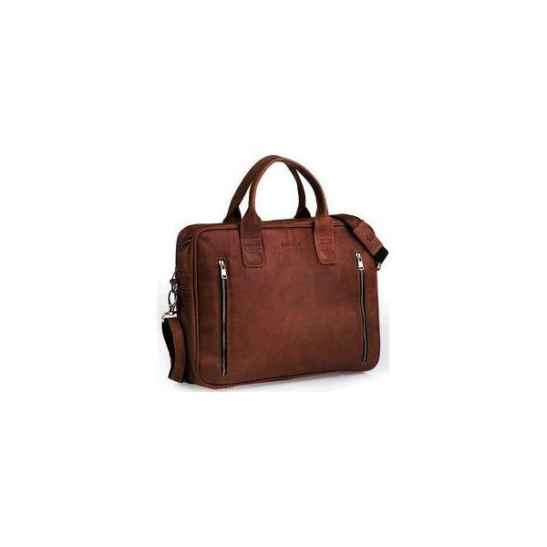 c567312d9d4e6 Jasno brązowa męska torba na ramie brodrene bl02, Kolor wnętrza: Czarny - Torby  męskie na ramię marki Brødrene. Za 350.00 zł.