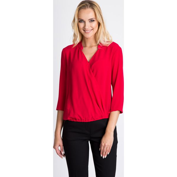 06bc27a4d9 Kopertowa malinowa bluzka QUIOSQUE - Różowe bluzki damskie marki ...