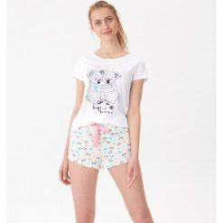 dcd2358906a8c6 Zielona bielizna nocna damska House - Kolekcja lato 2019. Dwuczęściowa  piżama z nadrukiem - Zielony. Zielone piżamy damskie House, l, bez wzorów