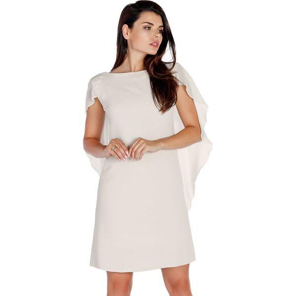 c0505aa32 Sukienka w kolorze kremowym - Białe sukienki damskie marki Ryłko by ...