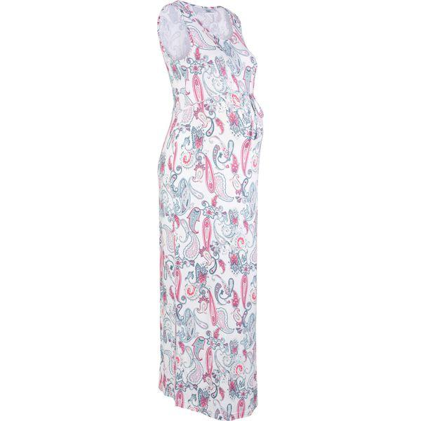 f9a35232ca Długa sukienka ciążowa