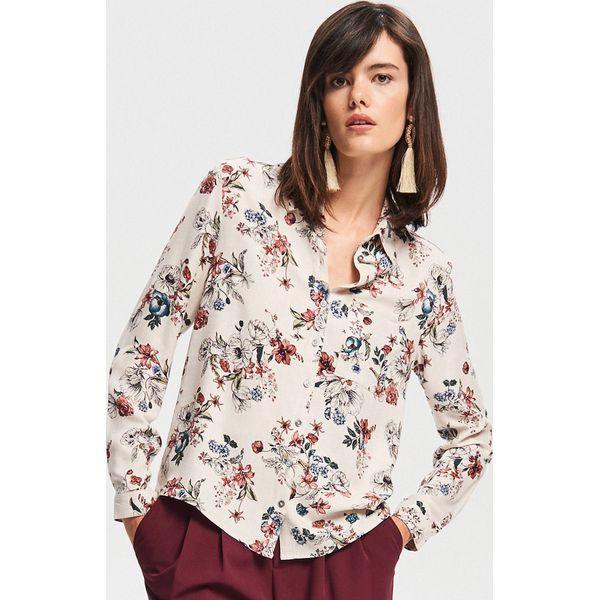 Kwiaty Koszule Reserved Wiskozowa Marki Damskie Koszula Beżowy W 8ymwvNnP0O