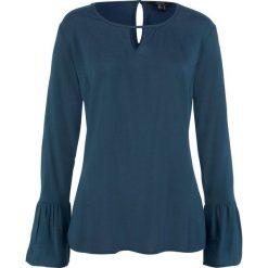 ed5520d160 Bluzka z rękawami z falbanami bonprix ciemnoniebieski. Bluzki damskie marki  bonprix. Za 74.99 zł