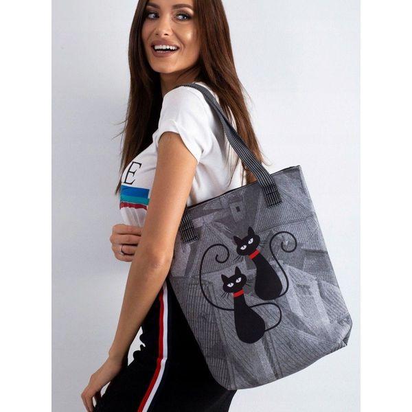 Torebka shopper bag Lorenti Viva Dachowce 002 Szary