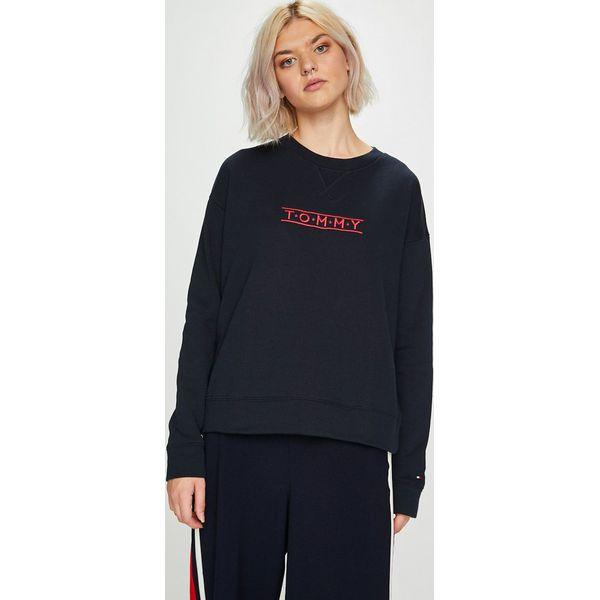 abf1b2bf72083 Tommy Hilfiger - Bluza - Czarne bluzy z nadrukiem damskie marki Tommy  Hilfiger