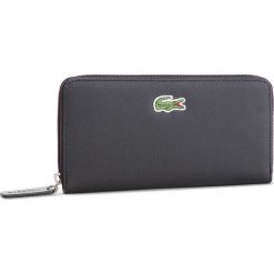 c6d46a5064fcc Duży Portfel Damski LACOSTE - L Zip Wallet NF2285PO Black 000. Portfele  damskie marki Lacoste