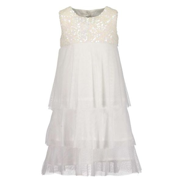 024647279a Blue Seven Sukienka Dziewczęca Z Cekinami 122 Biały - Sukienki ...