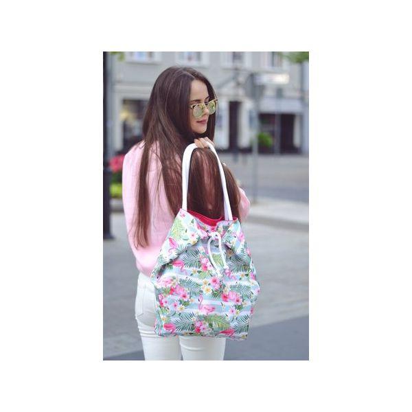 cc234f5029137 wiosenna torba na zakupy we flamingi